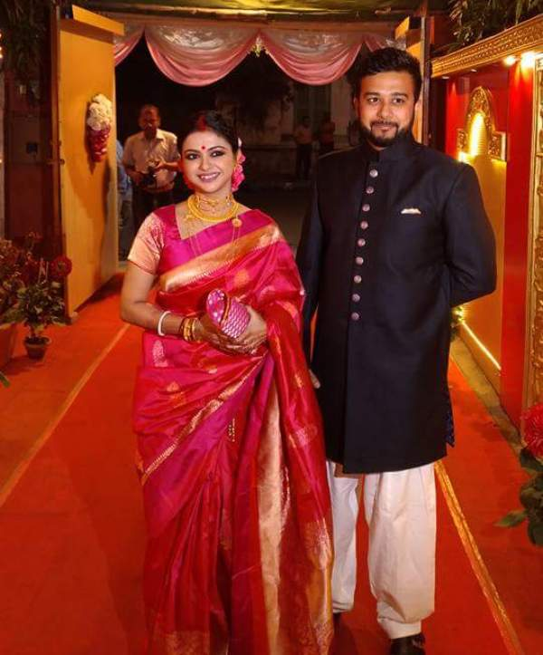 Solanki Roy with her Husband