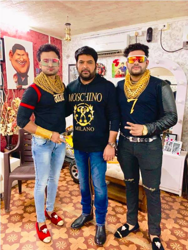 Sunny Waghchoure and Sunjay Gujar with Kapil Sharma