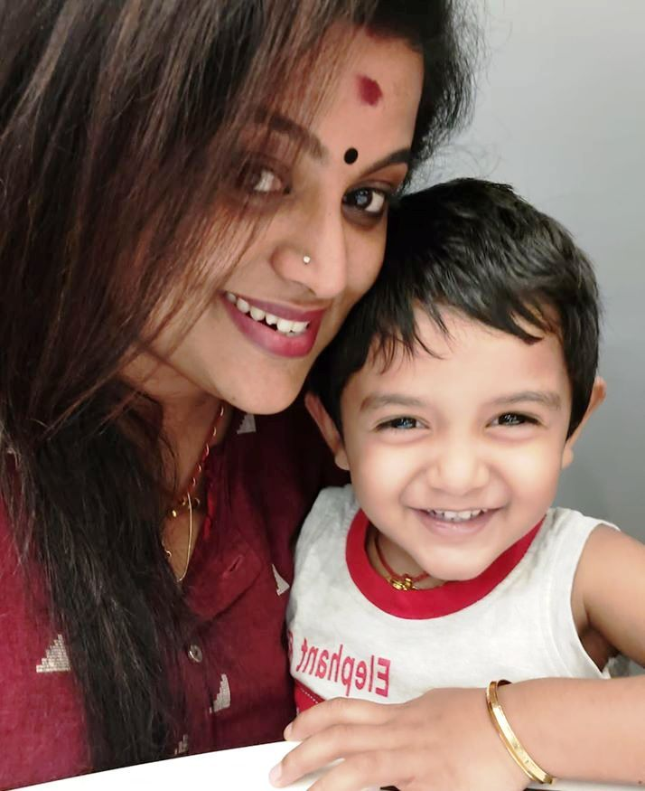 Veena Nair with Her Son