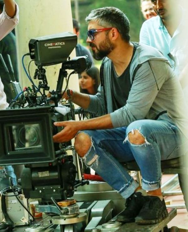 Amit Sharma During an Ad Film Shoot
