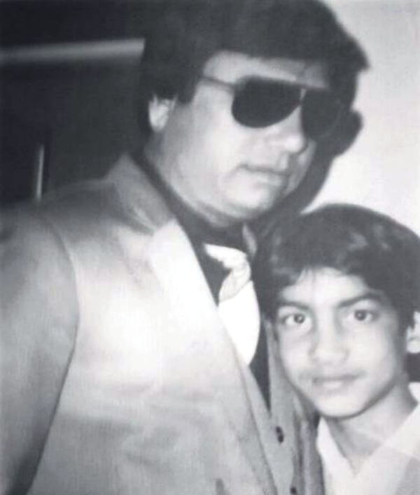 An Old Picture of Amit Sharma with His Father