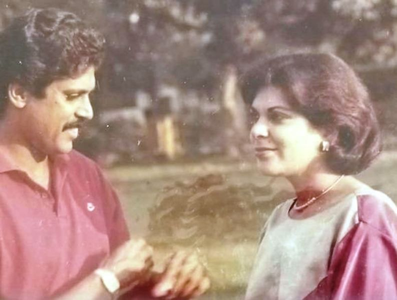 An Old Picture of Romi Bhatia and Kapil Dev