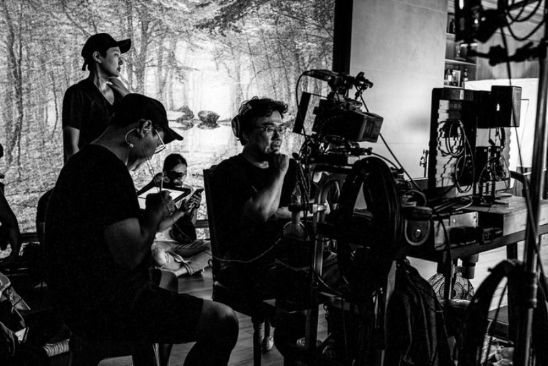 Bong Joon-ho during the Shooting of Parasite
