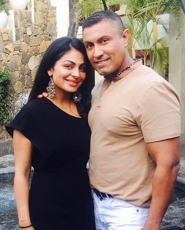 Harry Jawandha with his wife Neeru Bajwa