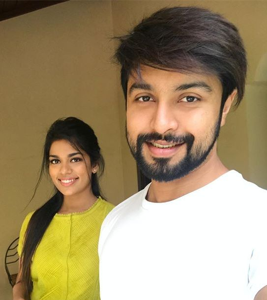 Kalyaan Dhev with his wife