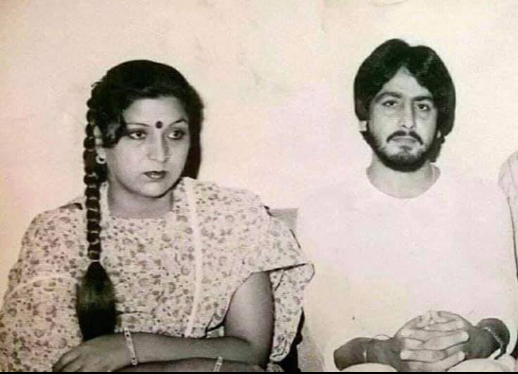 An old photo of Manjeet Maan and Gurdas Maan