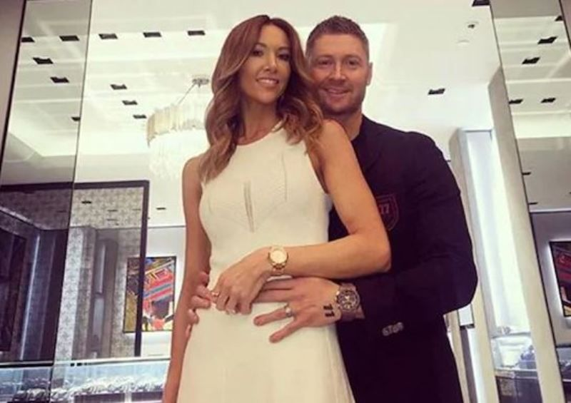 Michael Clarke with Kyly