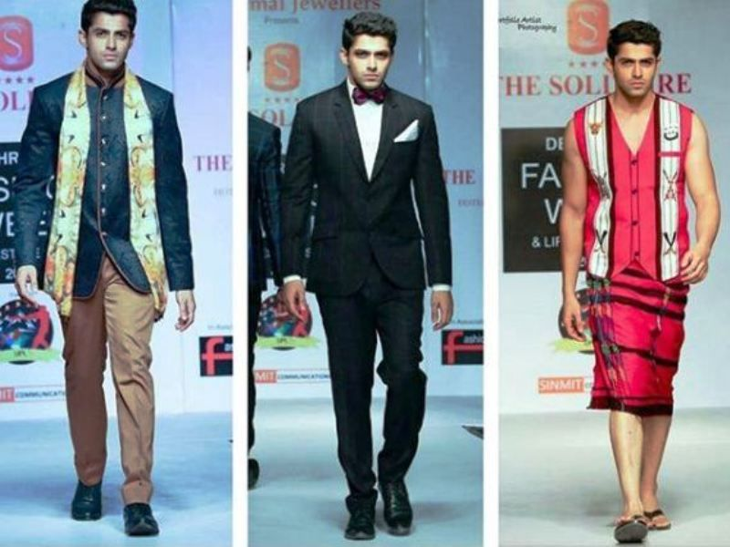 Mohit Kumar Walking the Ramp at Different Events