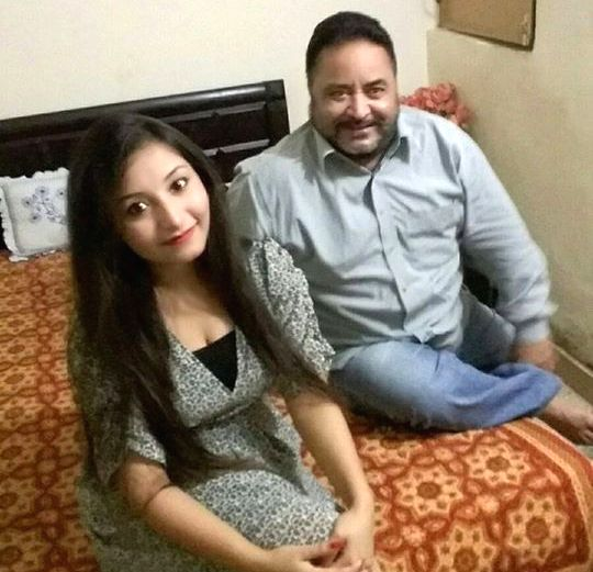Navdeesh Kaur with her father