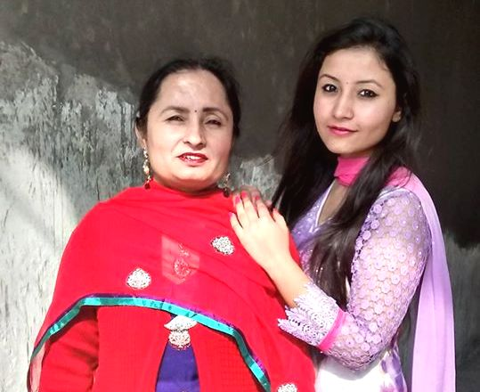 Navdeesh Kaur with her mother