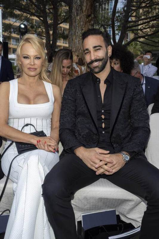 Pamela Anderson With Adil Rami
