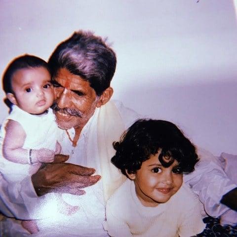 Riva Kishan's childhood picture