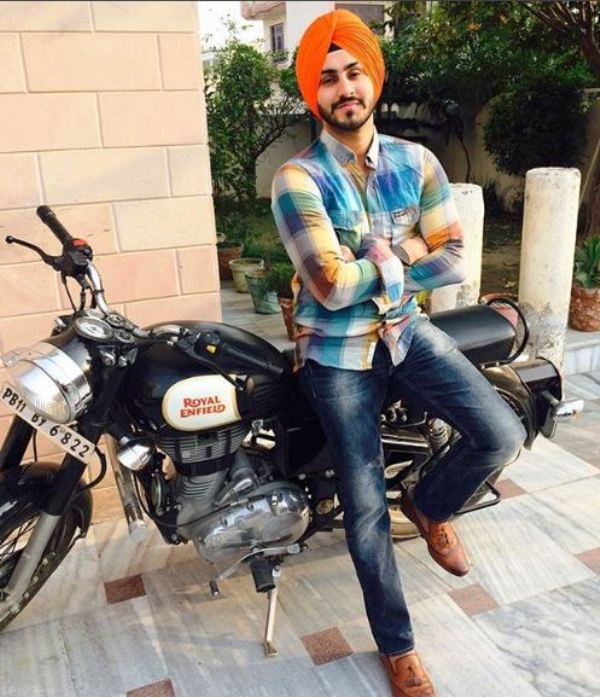 Rohanpreet Singh with His Motorcycle
