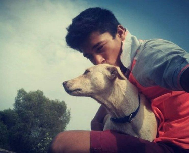 Rupesh Bane with his Dog