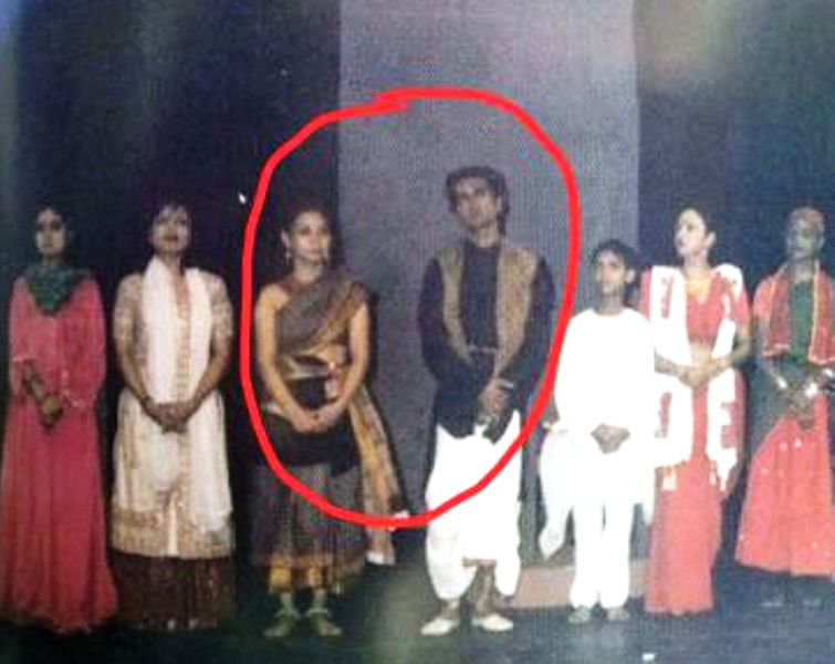 Sunita Rajwar and Nawazuddin Siddiqui during a stage play