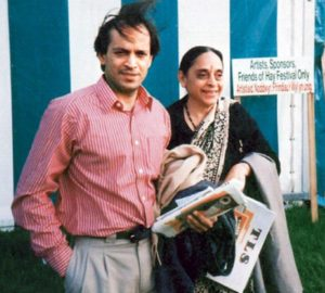 Vikram Seth with his Mother