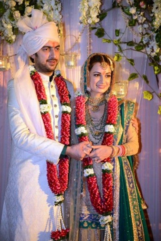 Wedding Picture of Dia Mirza and Sahil Sangha
