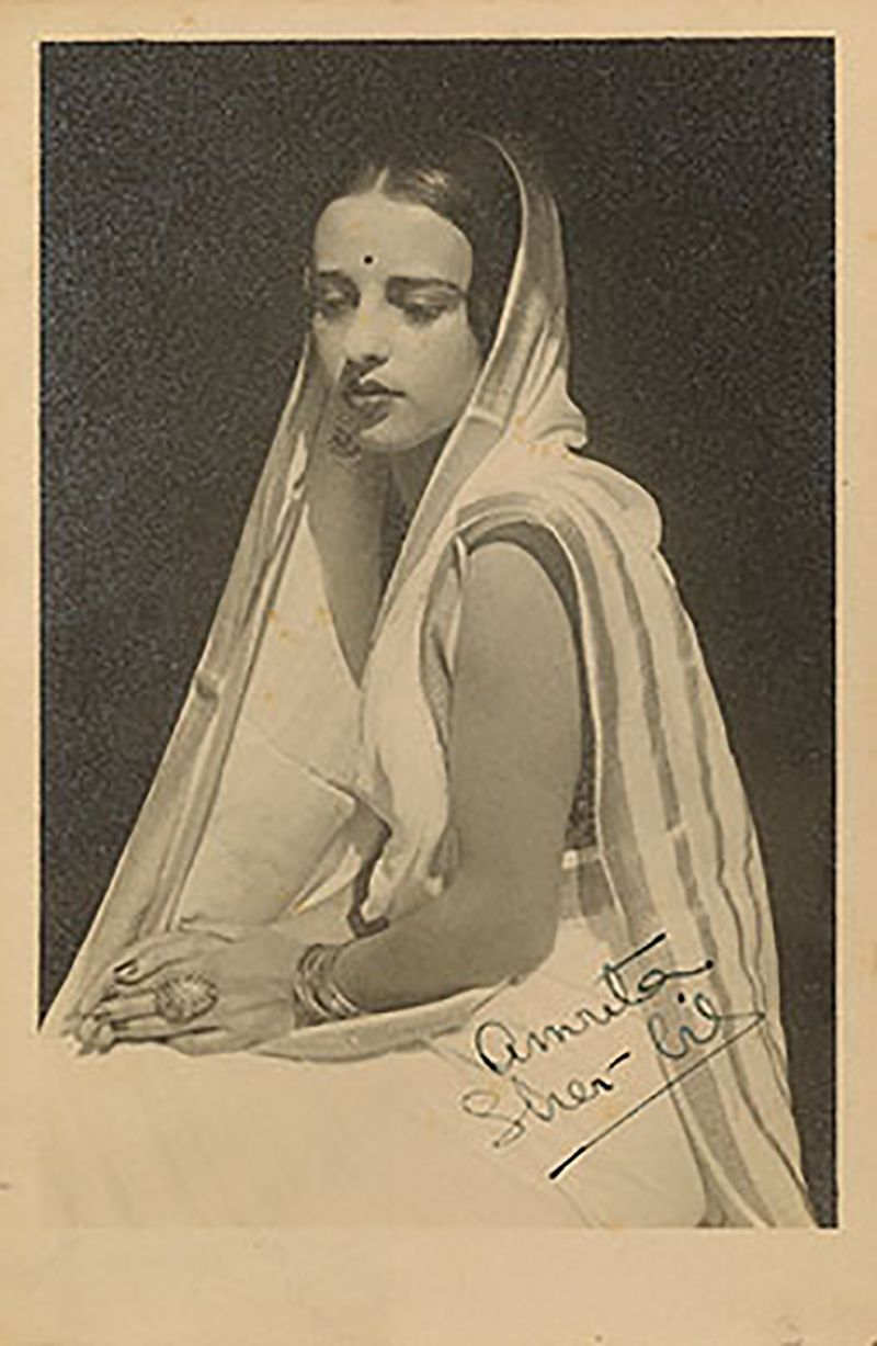 A Picture Signed by Amrita Sher-Gil