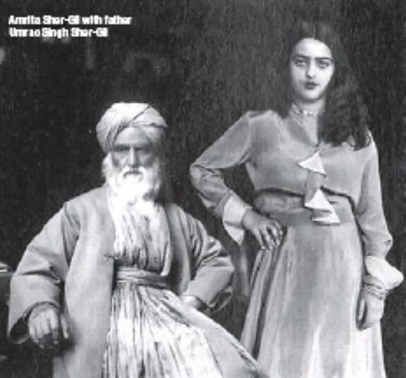 Amrita Sher-Gil with her Father