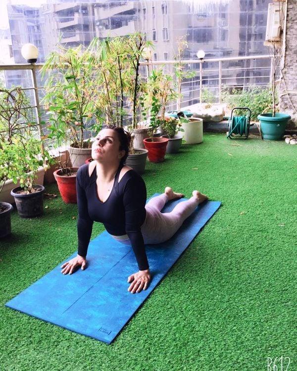 Dr. Anjali Hooda Sangwan Practising Yoga