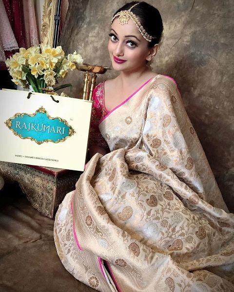 Manasi Naik's shoot for Rajkumari Sarees