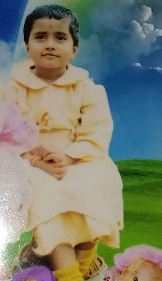 Nisha Guragain childhood image