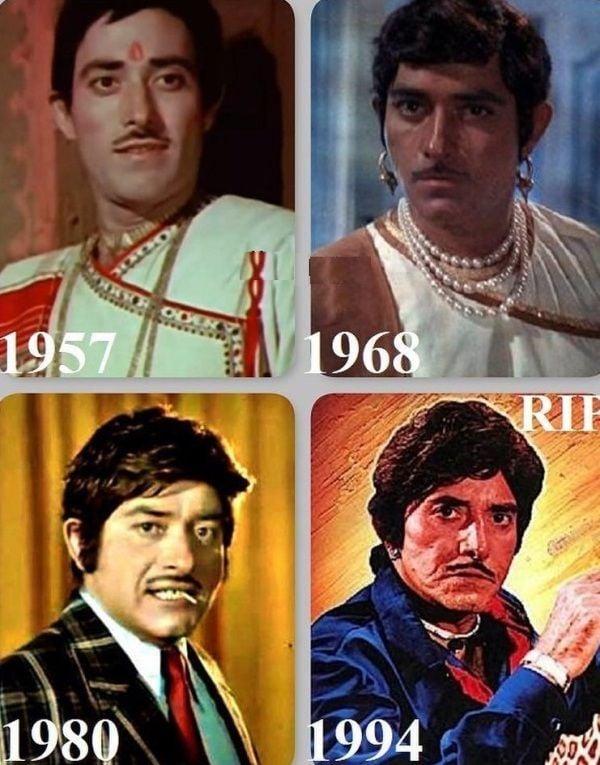 Raaj Kumar in different roles