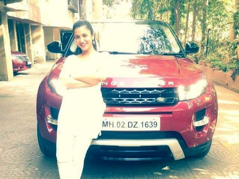 Shruti Haasan With Her Car