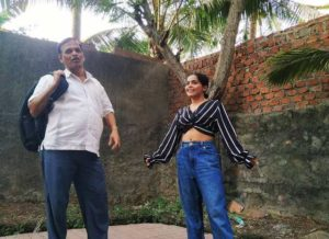 Sonal Vichare with her father