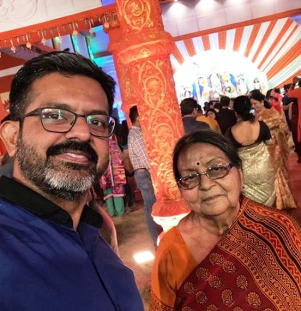 Sumit Awasthi With His Mother