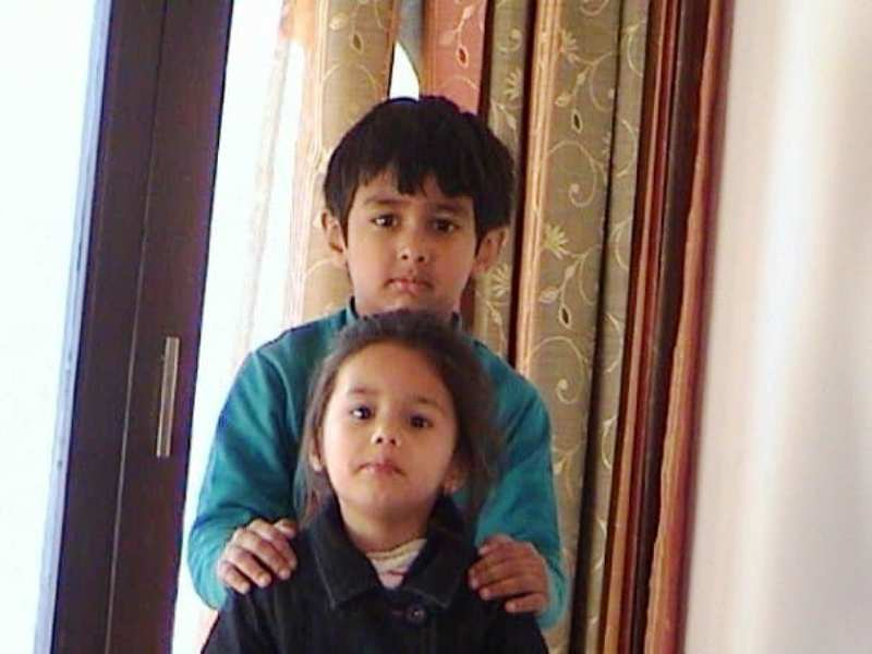 A Childhood Picture of Rudhraksh Jaiswal and His Sister