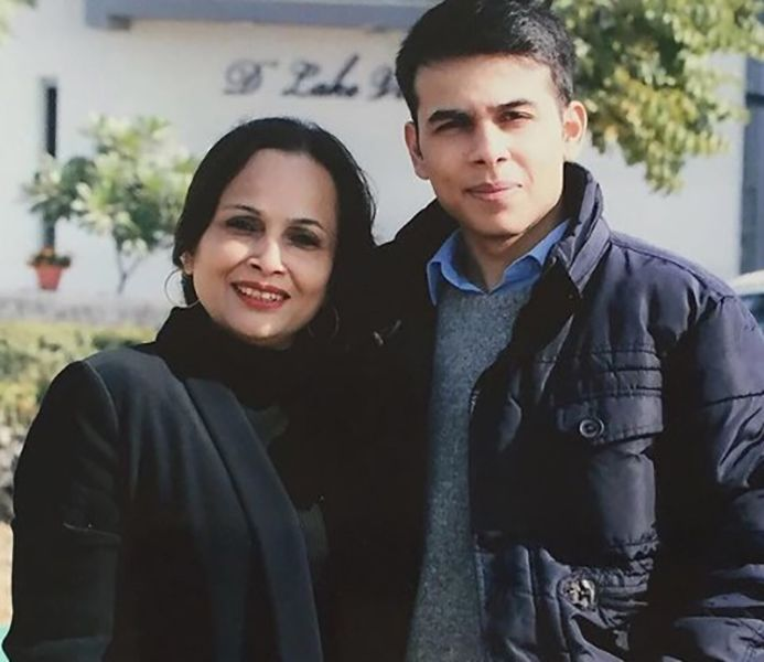 Anuv Jain with his Mother