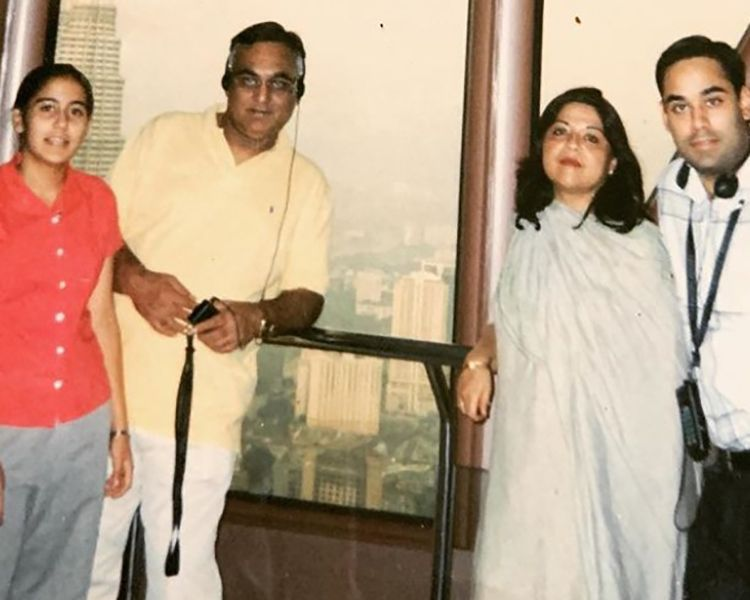 Bharat Sahni with his Parents