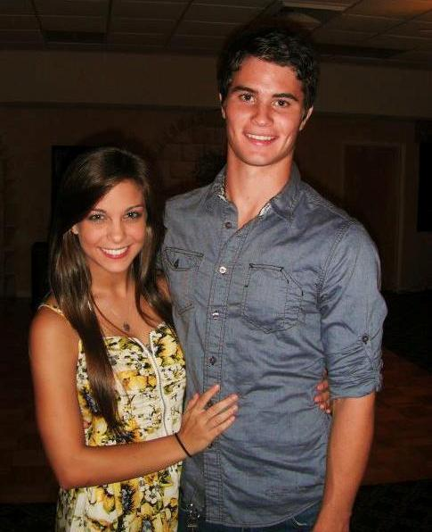 Chase Stokes with his ex-girlfriend