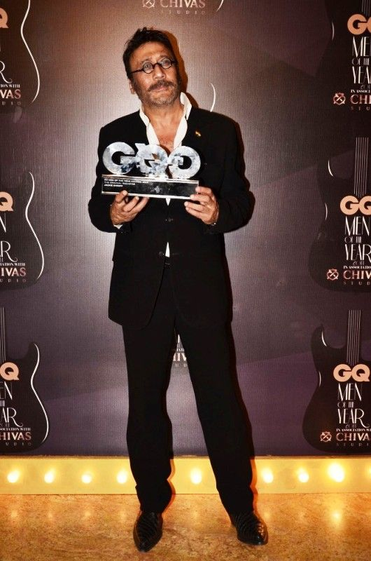 Jackie Shroff after winning The Original Rockstar at GQ