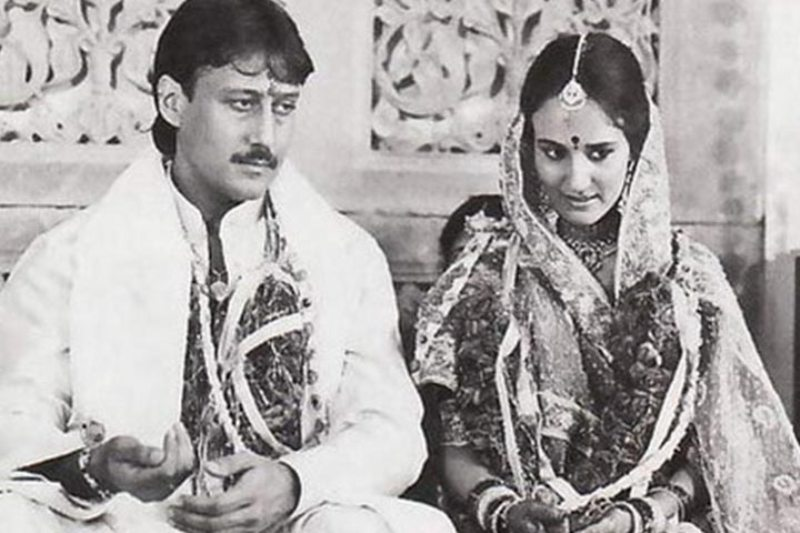 Jackie Shroff and His Wife Ayesha on their Wedding Day
