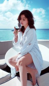 Kangna Sharma enjoying Wine