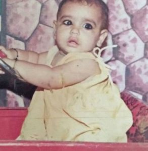 Kangna Sharma in Childhood