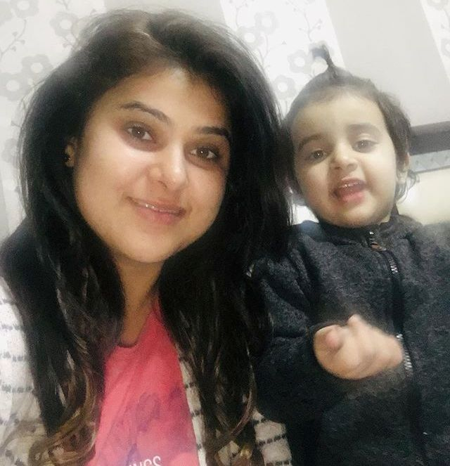 Nidhi Vasandani with her daughter