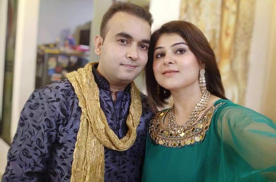 Nidhi Vasandani with her husband