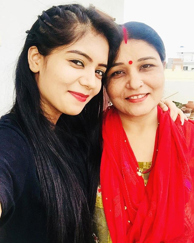 Rasika Pandey with her mother