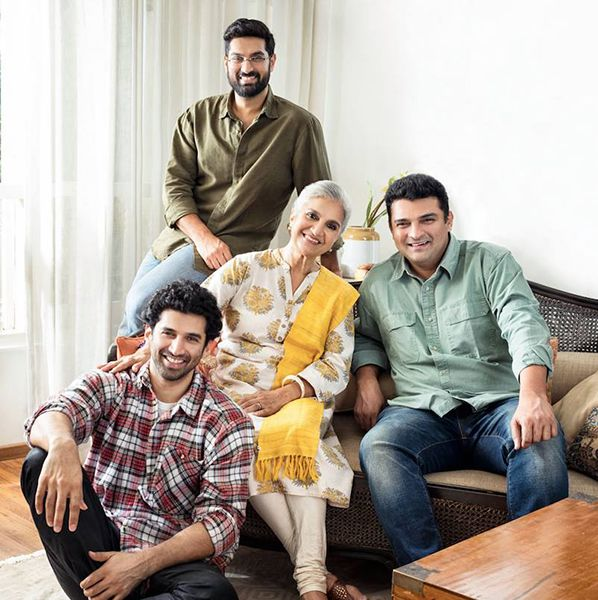 Salome Roy Kapur with her Sons