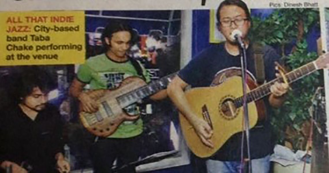 Taba Chake with his band in Delhi