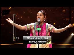 Afsana Khan performing in Rising Star
