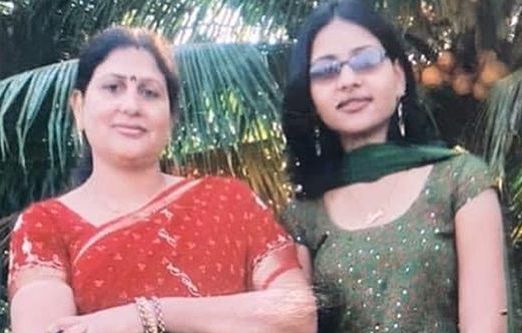 Anamika Jain Amber with her mother