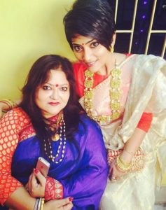 Anindita Bose and her mother