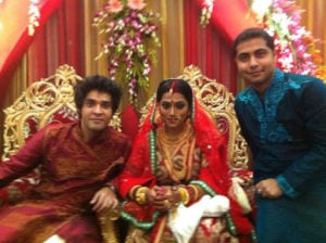 Anindita Bose wedding picture with Gourab Chatterjee
