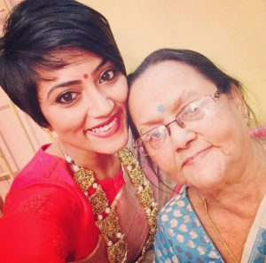 Anindita Bose with her grandmother