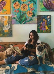 Anindita Bose with her pet dogs