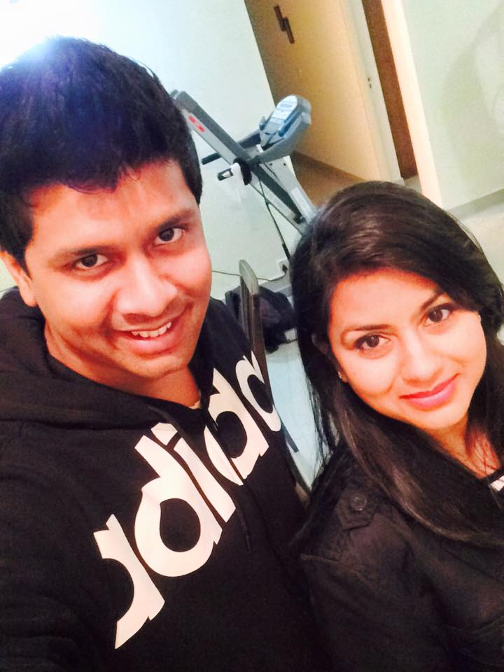 Ankita Singh with her brother